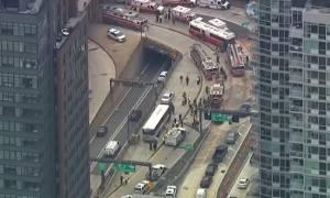 Νέα Υόρκη: Σύγκρουση λεωφορείων στη σήραγγα Λίνκολν - Δεκάδες τραυματίες (vids)