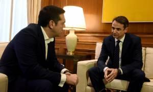 Τηλεφωνική επικοινωνία Τσίπρα – Μητσοτάκη για το Σκοπιανό