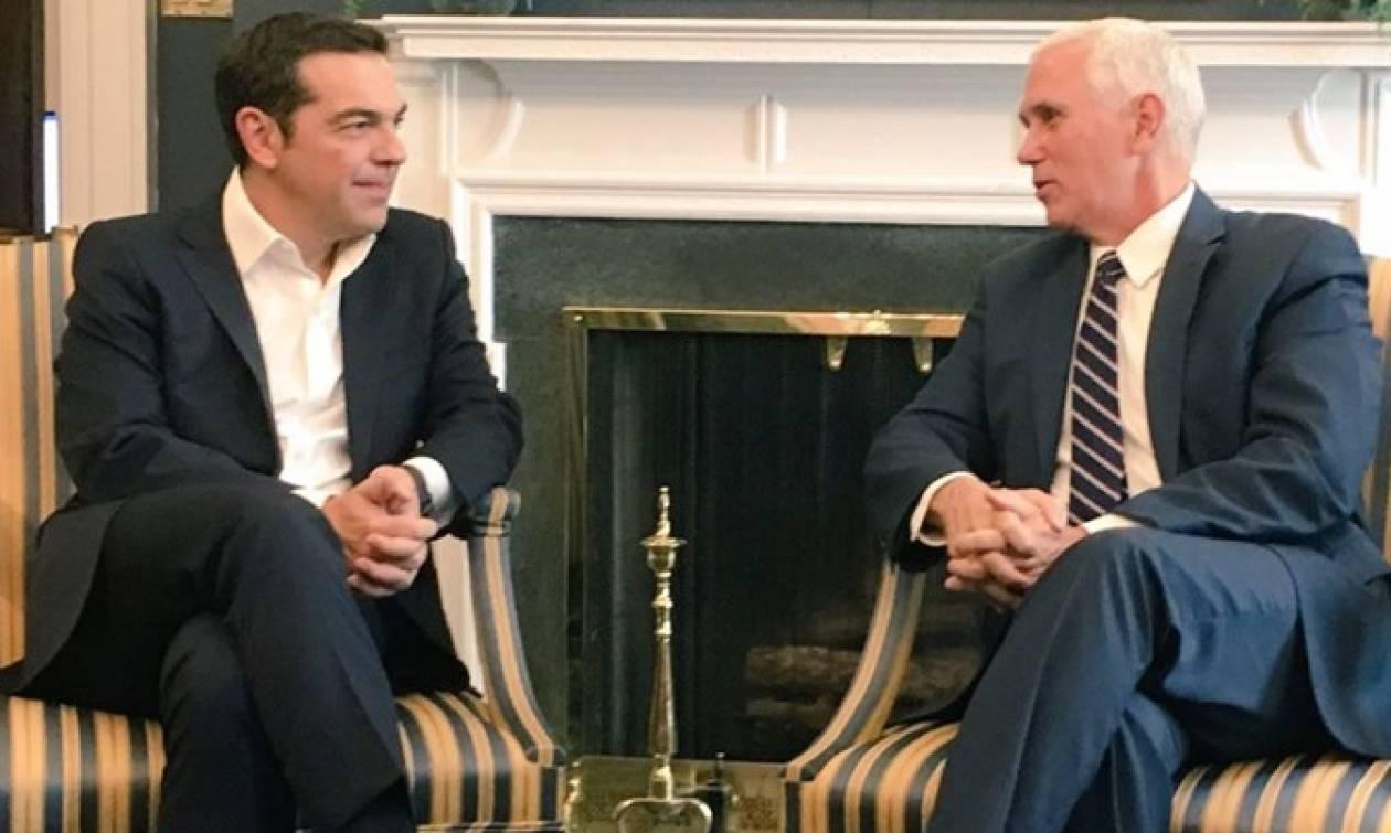Σκοπιανό: Τηλεφωνική επικοινωνία Τσίπρα με τον αντιπρόεδρο των ΗΠΑ Μάικ Πενς