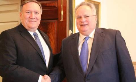 FM Kotzias met State Dept Secretary Pompeo in Washington