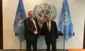 Κυπριακό και Σκόπια στο επίκεντρο της συνάντησης Κοτζιά - Γκουτέρες στη Νέα Υόρκη