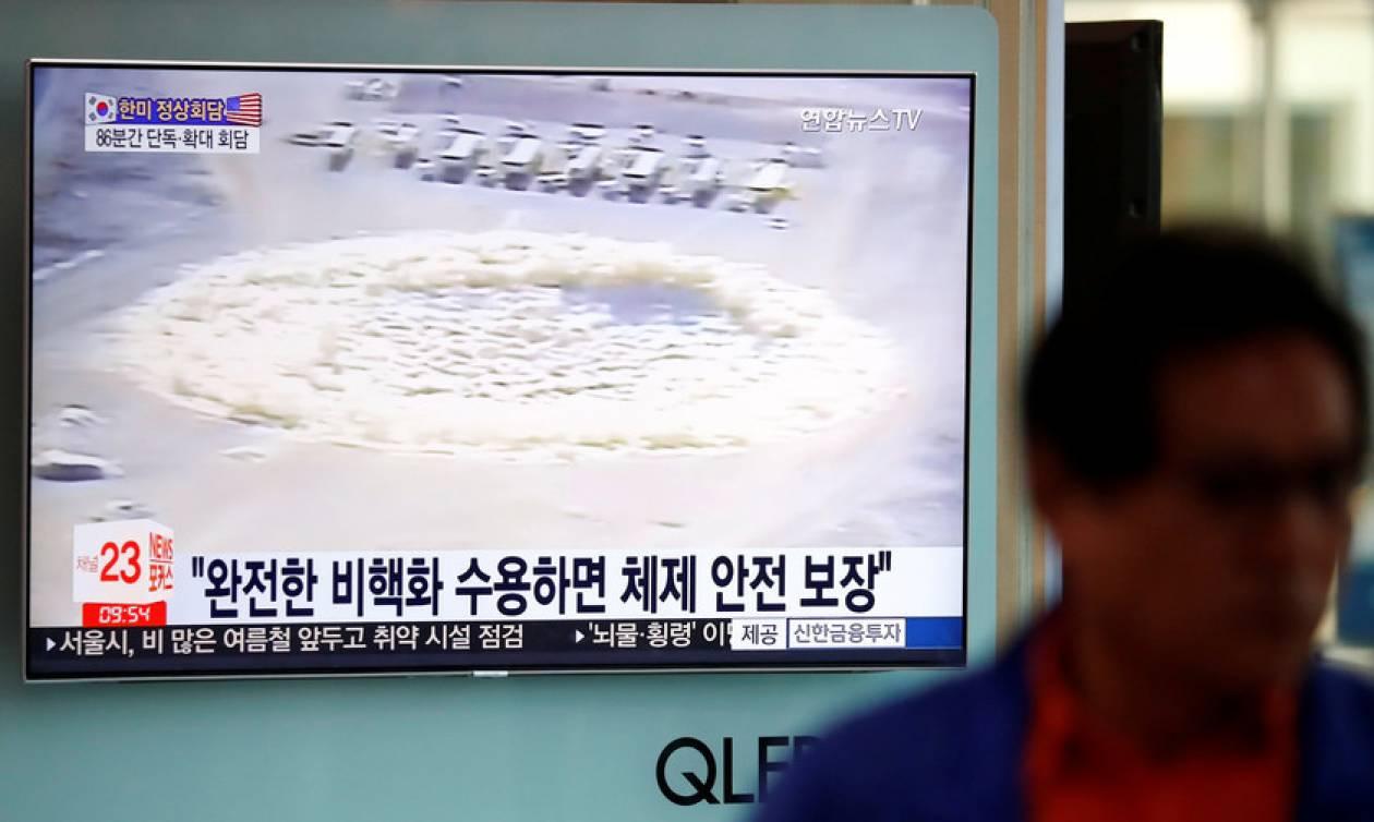 Ιστορική στιγμή: Η Βόρεια Κορέα ανατίναξε το πεδίο πυρηνικών δοκιμών (Pics)