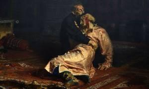 Σοβαρή ζημιά στον πίνακα «Ιβάν ο Τρομερός και ο γιος του»