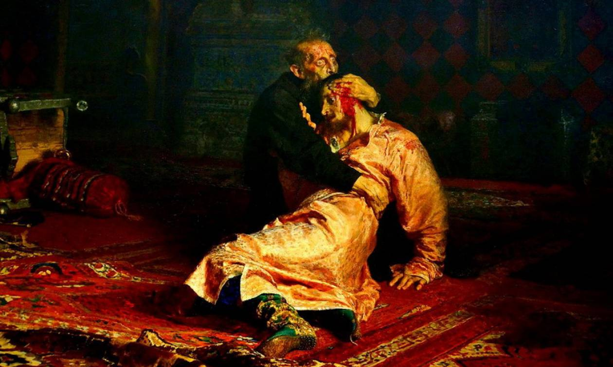 Σοκ και οργή στη Ρωσία για τον βανδαλισμό του πίνακα «Ο Ιβάν ο Τρομερός και ο γιος του»