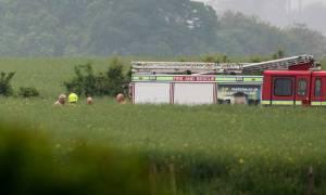 Βρετανία: Συντριβή ελικοπτέρου στο Νορθ Γιορκσάιρ - Νεκρός ο πιλότος (vids+pics)
