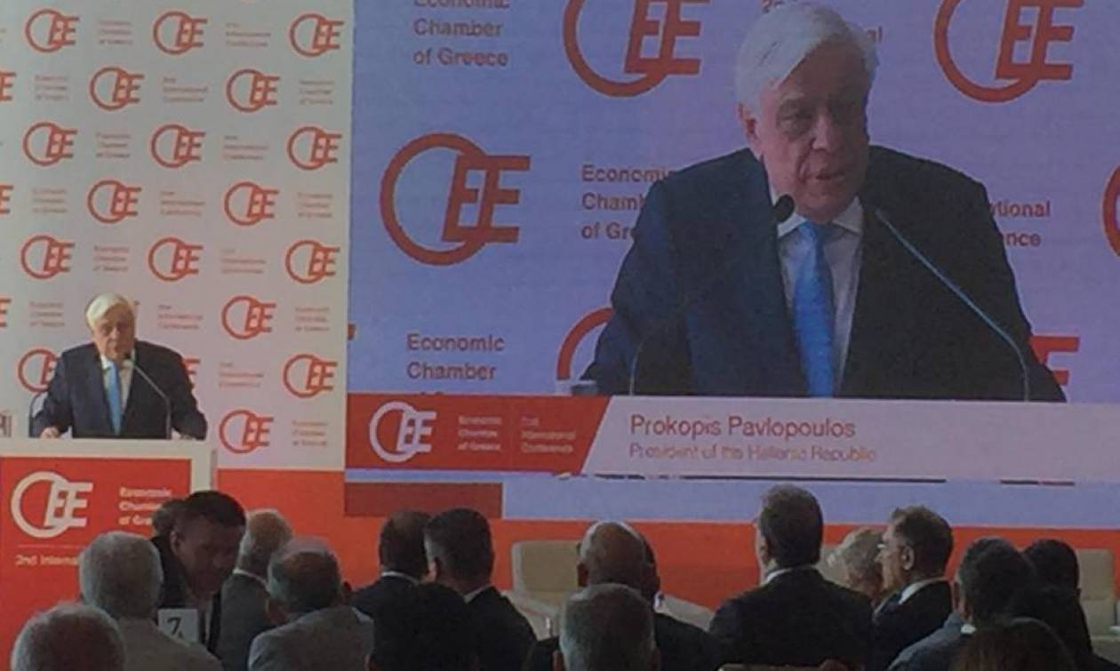 Συνέδριο OEE - Παυλόπουλος: Τηρούμε τις δεσμεύσεις μας, να τηρήσει και η ΕΕ τις δικές της