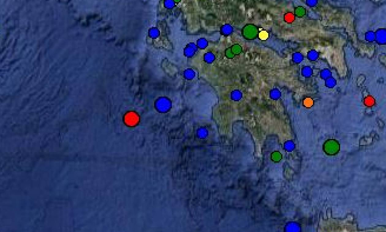 Σεισμός ανοικτά της Ζακύνθου