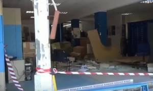 Κινηματογραφική ληστεία στην Ημαθία: Εισέβαλαν με φορτηγό στα ΕΛΤΑ