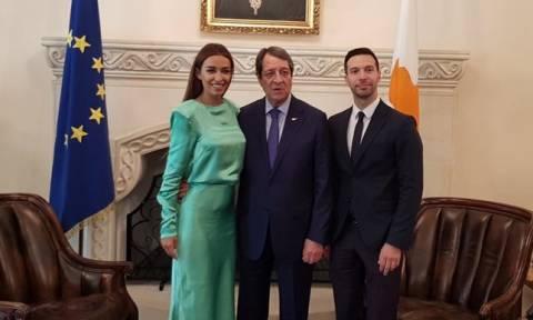 Η Ελένη Φουρέιρα συνάντησε τον πρόεδρο της Κύπρου