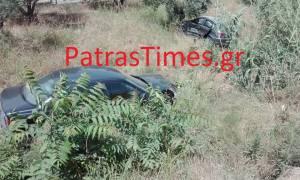 Αχαΐα: Σοβαρό τροχαίο στα Αραχωβίτικα – ΙΧ κατέληξαν σε χωράφι (pics)