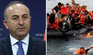«Βόμβα» Τσαβούσογλου: Η Τουρκία «παγώνει» τη συμφωνία για το προσφυγικό