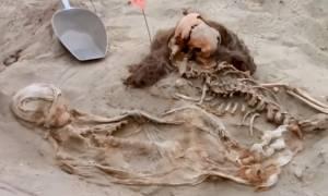 Μακάβρια ευρήματα μαζικής θυσίας παιδιών στο Περού (Vid)