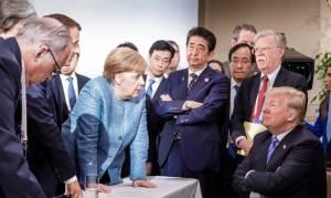 G7: Τρομερή φωτογραφία Μέρκελ - Τραμπ τα... λέει όλα! Τα «βρόντηξε» και έφυγε ο Αμερικανός πρόεδρος