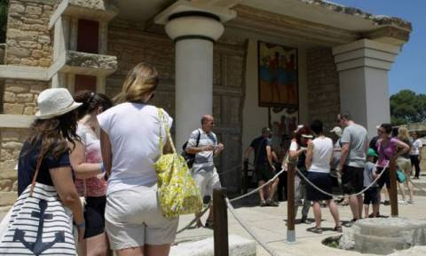 Spectacular rise in numbers visiting the site of Knossos