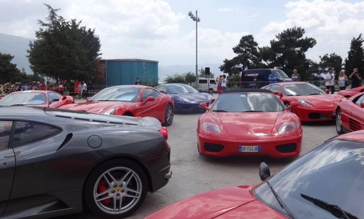 Δεκάδες Ferrari «μαγεύουν» την Κέρκυρα - Διαγωνισμός για την πιο όμορφη… Ιταλίδα! (vids+pics)