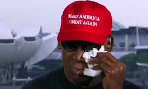 Τραμπ – Κιμ Γιονγκ Ουν: Ξέσπασε σε δάκρυα ο Ντένις Ρόντμαν - Δείτε το βίντεο