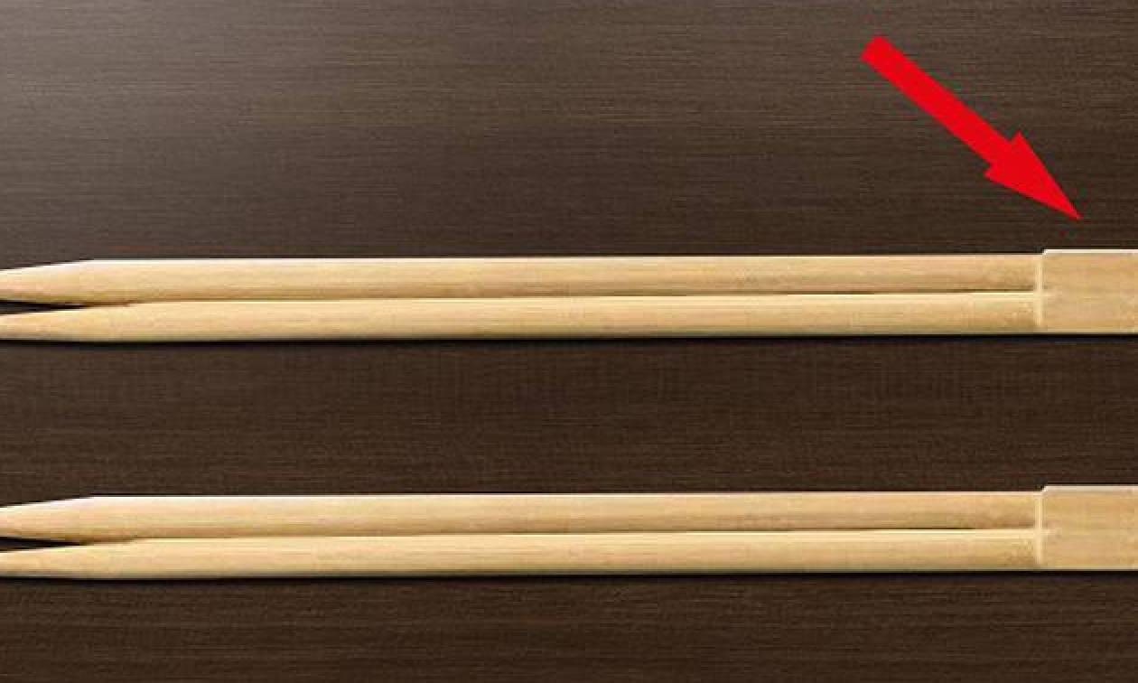 Γνώριζες σε τι χρησιμεύει το πάνω μέρος των chopsticks; (photo)