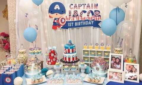 Παιδικό πάρτι γενεθλίων με θέμα τον Captain America - Ιδέες για τούρτες και διακόσμηση