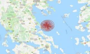 Σεισμός ΤΩΡΑ: Διπλή σεισμική δόνηση στις Βόρειες Σποράδες (pics)