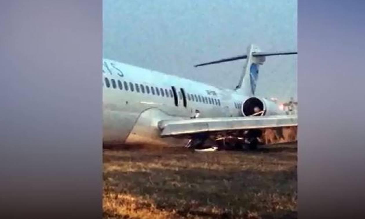 Τρόμος για 169 επιβάτες: Αεροσκάφος τυλίχθηκε στις φλόγες στη διάρκεια αναγκαστικής προσγείωσης