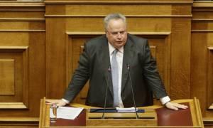 Κοτζιάς: Πατριωτική η συμφωνία με τα Σκόπια - Η ΝΔ είχε προκρίνει το «Βόρεια Μακεδονία»