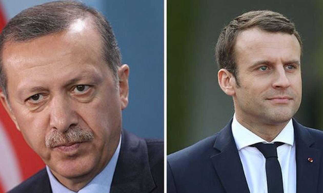 Τηλεφωνική επικοινωνία Μακρόν - Ερντογάν: Τι συζήτησαν