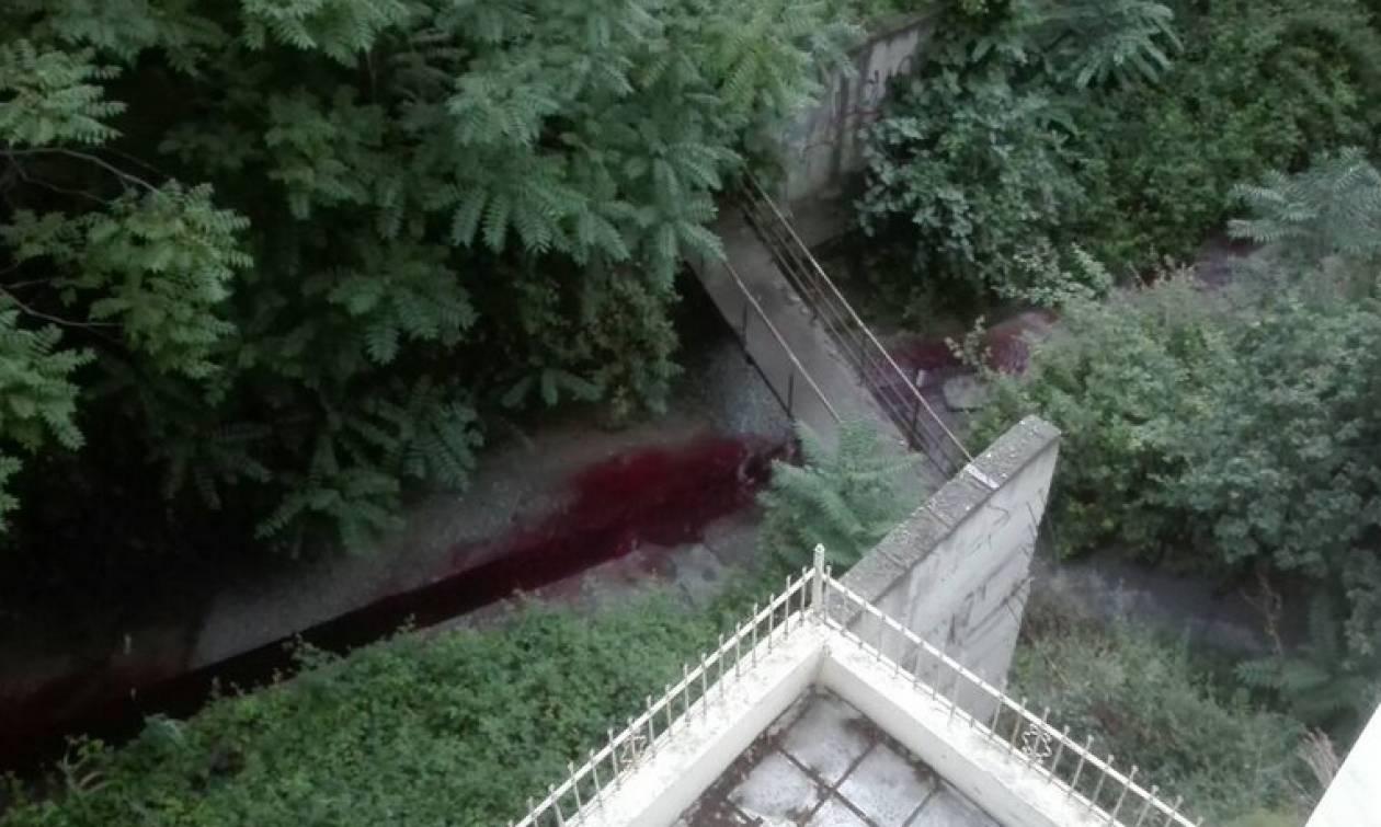 Ανεξήγητο φαινόμενο στη Θεσσαλονίκη - Ρέει κόκκινο ποτάμι