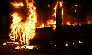 Στις φλόγες λεωφορείο στην Εγνατία Οδό