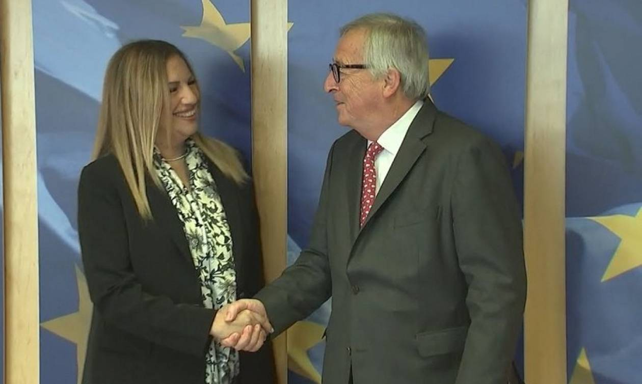 Γεννηματά - Γιούνκερ: Συζήτησαν για Σκοπιανό και ελληνική οικονομία