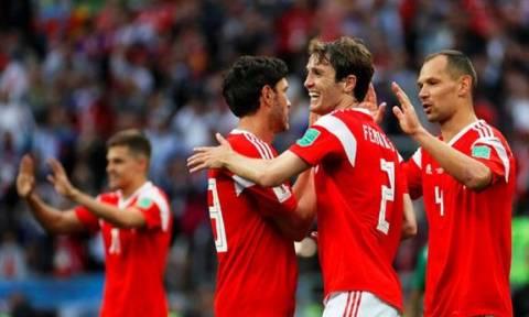 Победный матч сборной России над командой Египта на ЧМ собрал аншлаг в московской фан-зоне