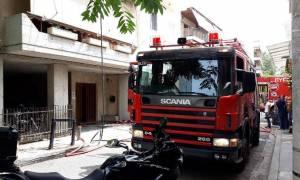 Συναγερμός για φωτιά σε πολυκατοικία στο Χαλάνδρι