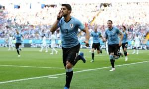 Παγκόσμιο Κύπελλο Ποδοσφαίρου 2018: Με «αγγαρεία» και Σουάρες στους «16» η Ουρουγουάη!
