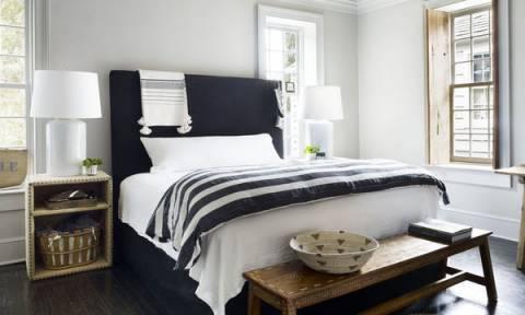 Δεκαπέντε ιδέες για ασπρόμαυρες κρεβατοκάμαρες που θα σας εντυπωσιάσουν (pics)