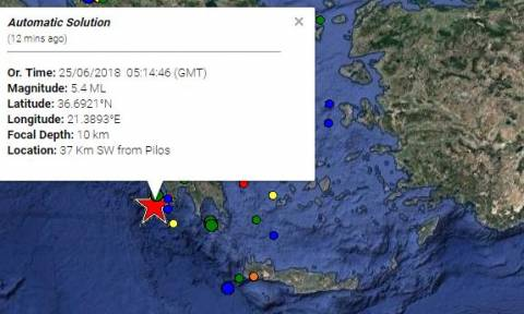 Earthquake: 5.4 Richter jolts Pylos
