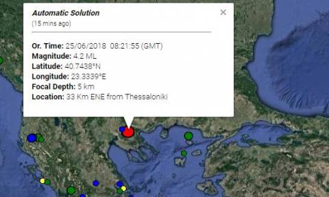 Light quake east of Thessaloniki