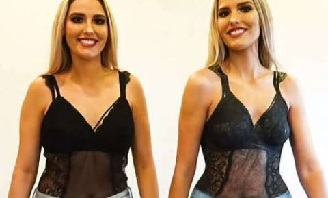 Βίντεο: Εκρηκτικές δίδυμες βγήκαν βόλτα η μια ντυμένη και η άλλη... βαμμένη! Εσείς βλέπετε τη γυμνή;