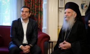 Λονδίνο: Συνάντηση του Αλέξη Τσίπρα με τον αρχιεπίσκοπο Θυατείρων και Μεγάλης Βρετανίας
