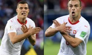 Μουντιάλ 2018: Τη γλίτωσαν! Αυτή είναι η τιμωρία των δύο Ελβετών για τον «αλβανικό αετό»