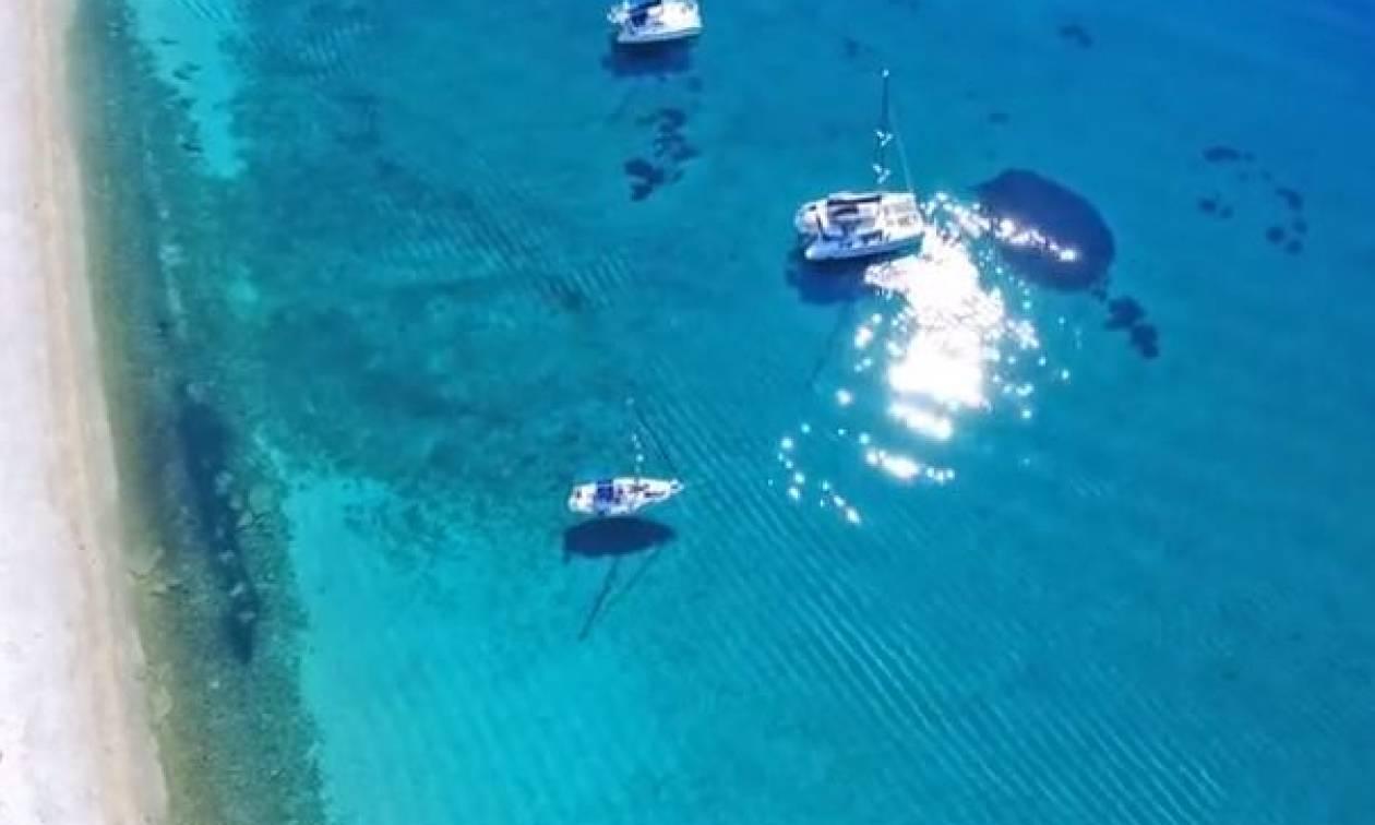 Αυτή η εξωτική παραλία δεν βρίσκεται στην Καραϊβική, αλλά στην... (video)