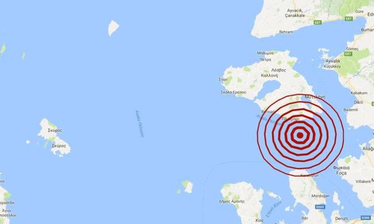 Σεισμός: Ισχυρή σεισμική δόνηση κοντά στη Μυτιλήνη (pics)