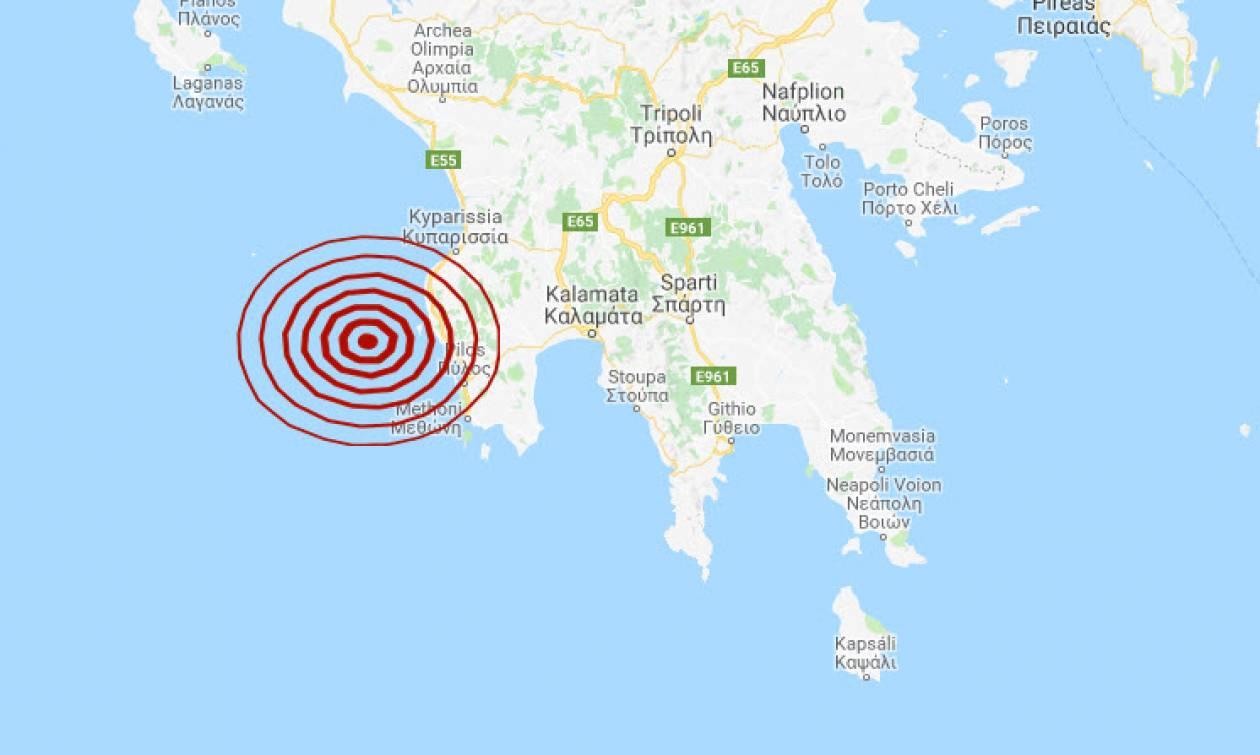 Σεισμός δυτικά της Πύλου (pics)