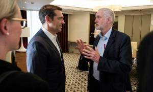Tsipras, Corbyn discuss cooperation between left and progressive forces in Europe