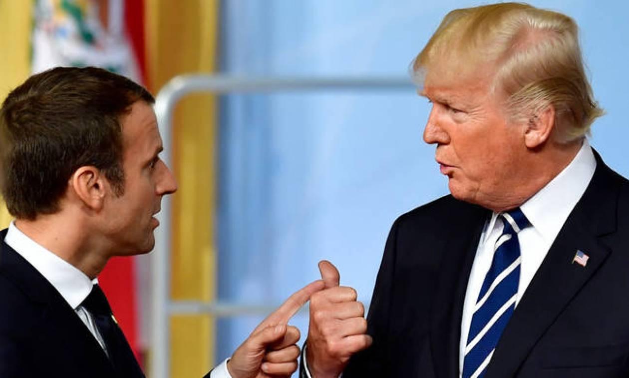Τραμπ σε Μακρόν: Γιατί δεν εγκαταλείπεις την ΕΕ και να υπογράψεις συμφωνία μαζί μου;