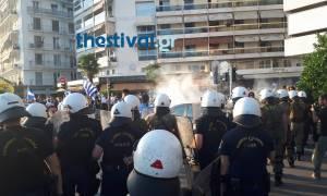 Επεισόδια στο συλλαλητήριο για την Μακεδονία στη Θεσσαλονίκη (pics)