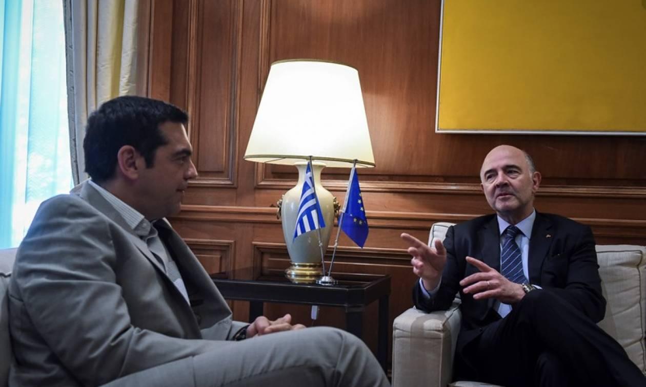 Μοσκοβισί σε Τσίπρα: Τώρα η Ελλάδα είναι μια κανονική χώρα μέσα στην Ευρωζώνη