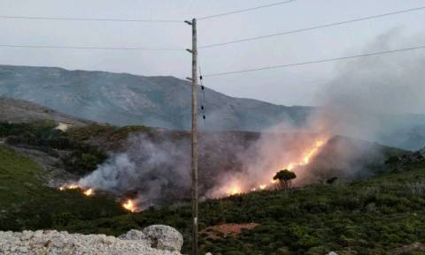 Wildfire on Crete under partial control