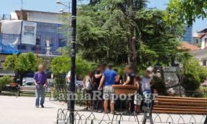 Λαμία: Άγριο ξύλο στο στην πλατεία Πάρκου (pics&vids)