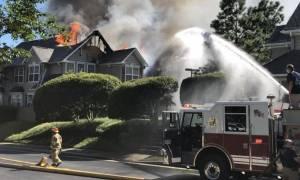 ΗΠΑ - Τραγωδία στη Βιρτζίνια: Ελικόπτερο έπεσε πάνω σε διαμερίσματα - Ένας νεκρός (pics&vids)