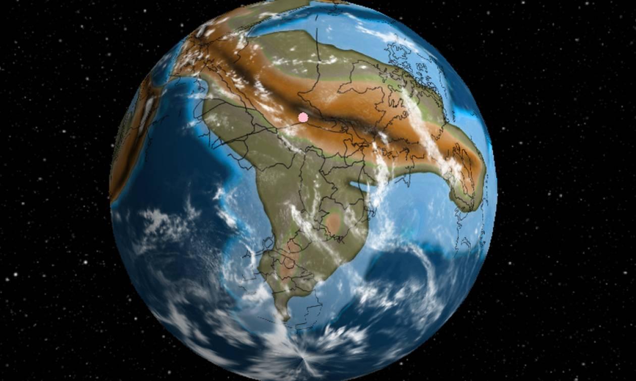 Φοβερή εφαρμογή: Δες πού ήταν το σπίτι σου πριν από 500.000.000 χρόνια!