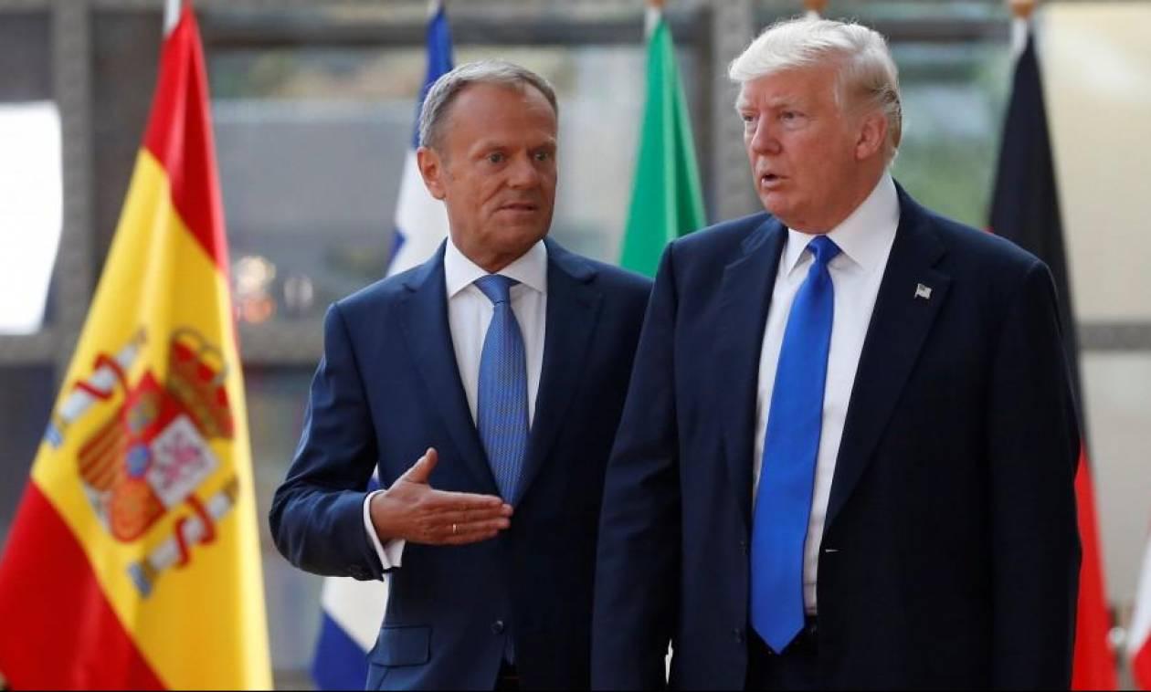 Άγρια κόντρα Τουσκ – Τραμπ: «Να εκτιμάς τους συμμάχους σου, δεν έχεις και τόσους πολλούς»